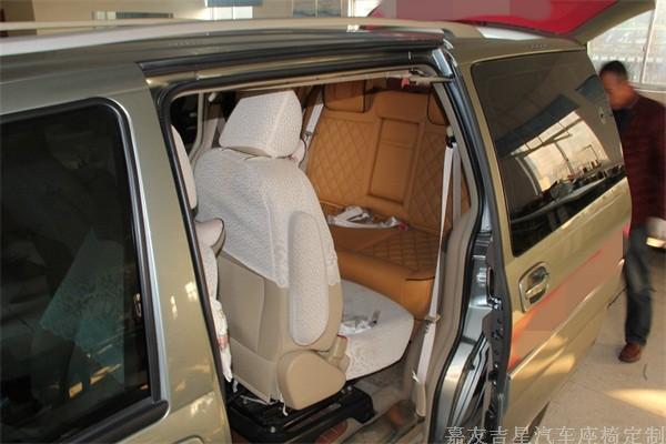 别克GL8特殊电动座椅改装 gl8汽车座椅改装靠背调节 gl8座椅改装成高清图片